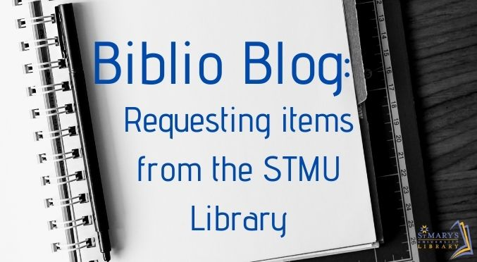 Requesting items from the STMU Library